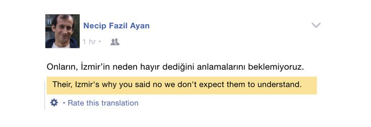Facebook translation