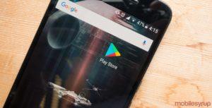 Google Play Store app on phone