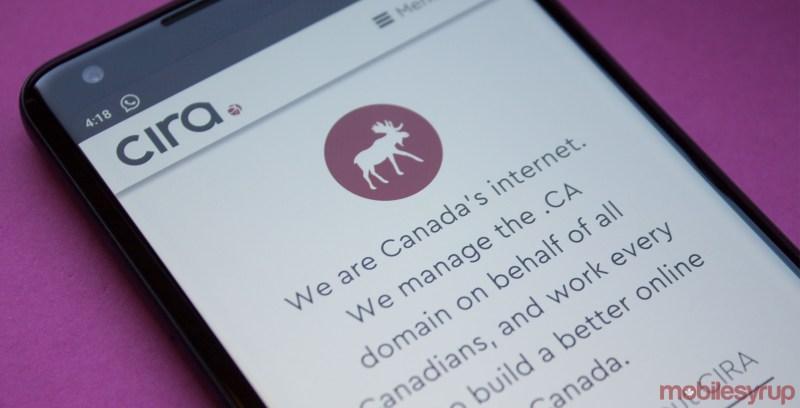 CIRA website on mobile