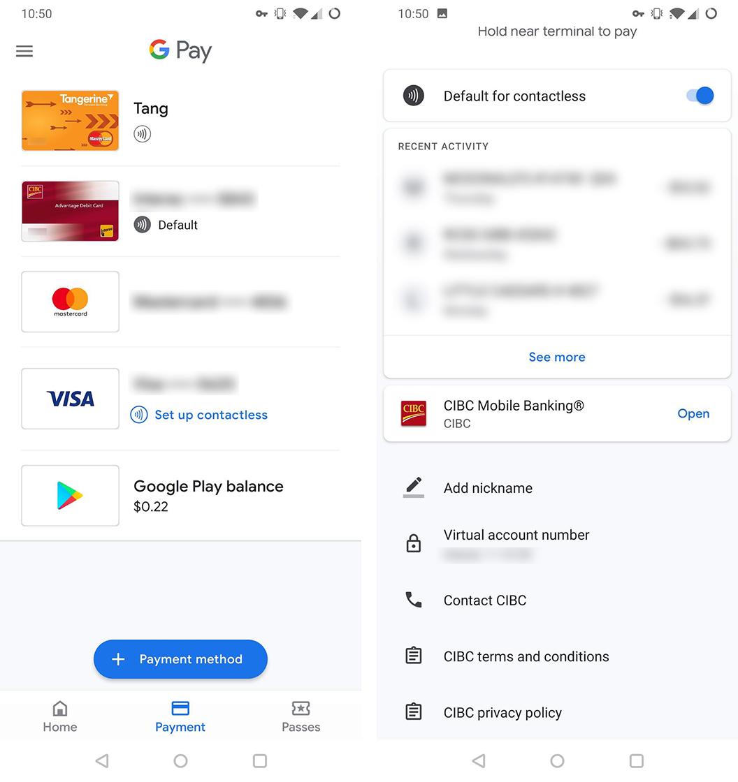 Google Pay nicknames