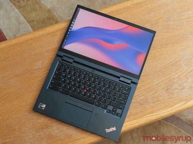 Lenovo ThinkPad C13 Yoga Gen 1 lying flat