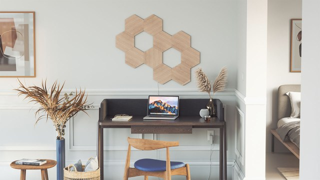 nanoleaf wood panels 0001 Elements 10x Panels Off Statement