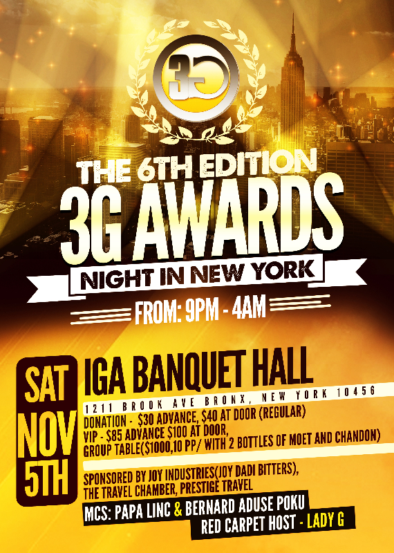 3G Media Announces The 6th Annual 3G Awards In NY