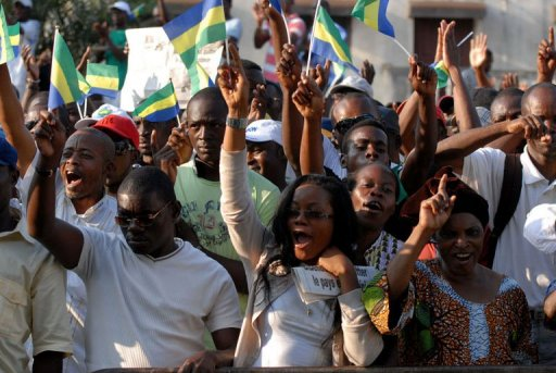 Gabon opposition holds rally to demand national conference