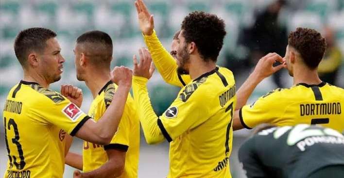 , Bundesliga: Guerreiro And Hakimi Help Dortmund Keep Up Title Charge