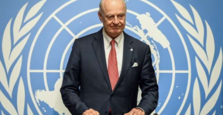 Staffan de Mistura (pictured December 2018) will take over the position of UN envoy to the Western Sahara conflict on November 1, 2021, two years after the post had become vacant.  By Fabrice COFFRINI (AFP/File)