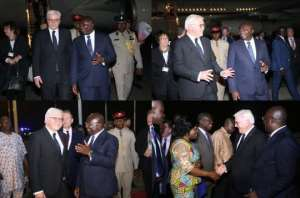 German President Touches Down In Ghana