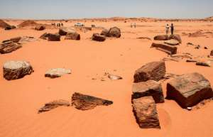 Archeologists in Sudan assess the damage done by gold hunters digging up ancient sites looking for buried treasure.  By Ebrahim HAMID (AFP Photo)