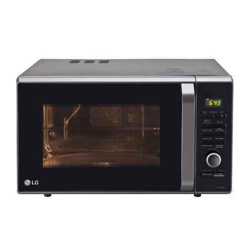 lg 28l black charcoal convection microwave oven mj2886bfum