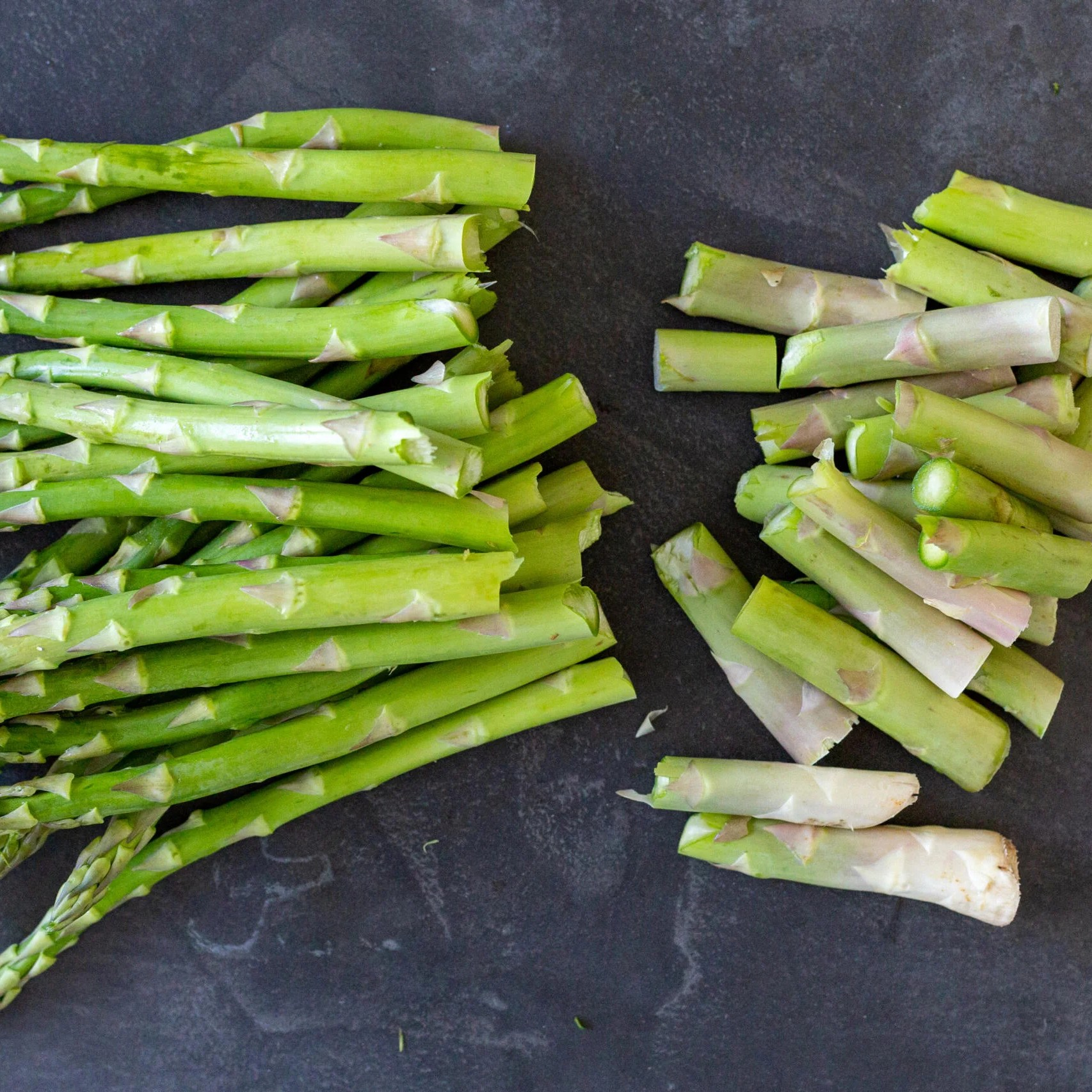 Asparagus with ends cut off
