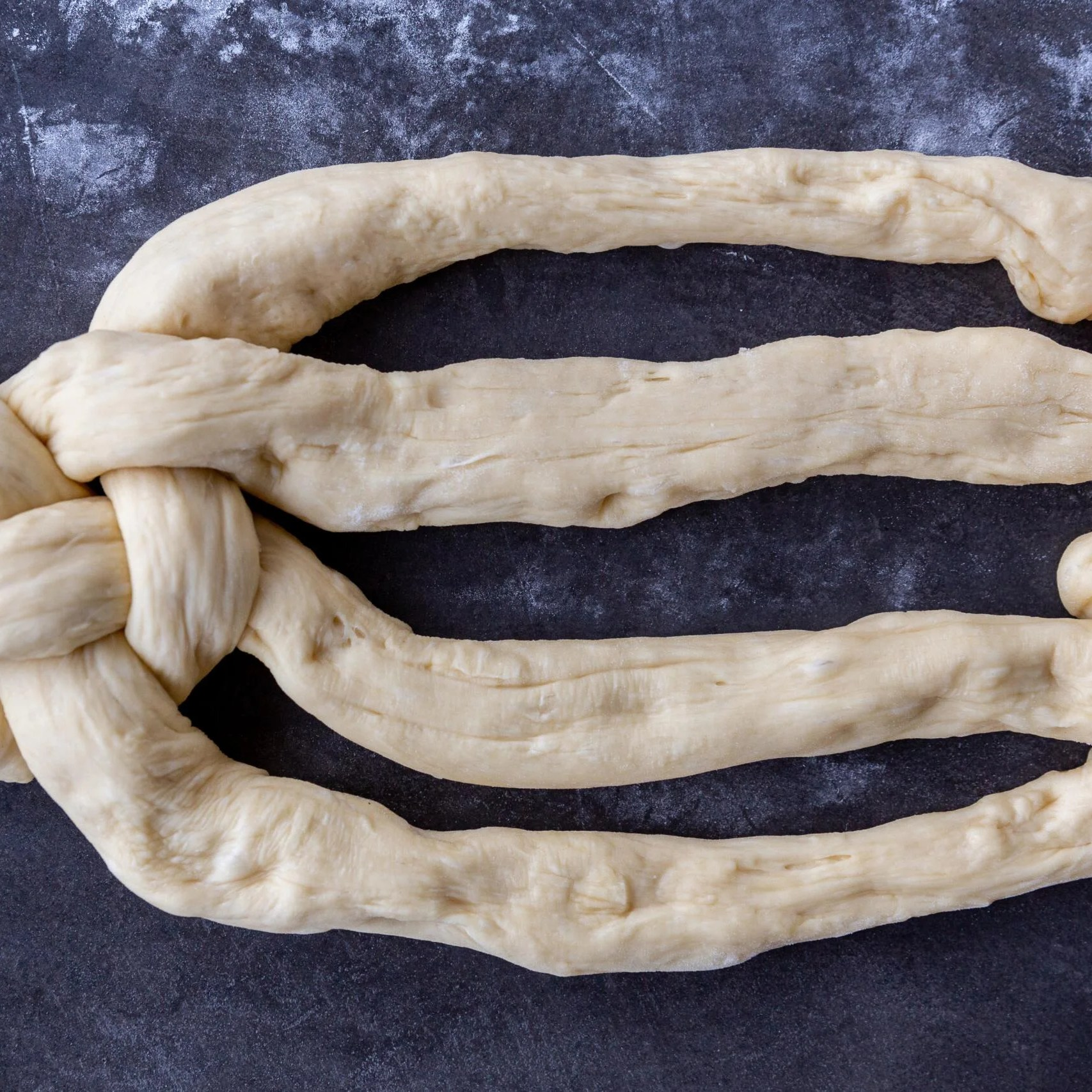 forming of the Challah Bread