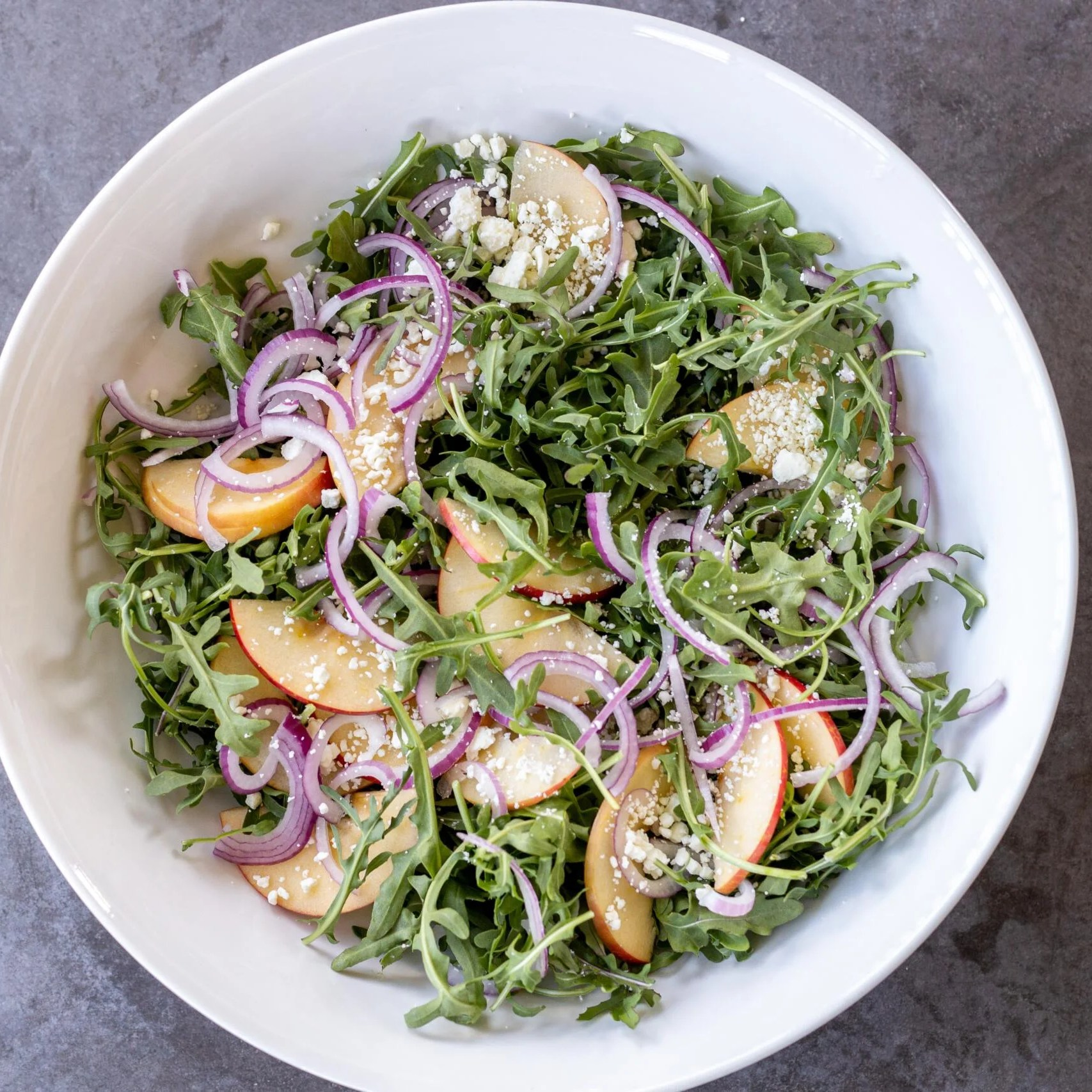 arugula salad in a bowl