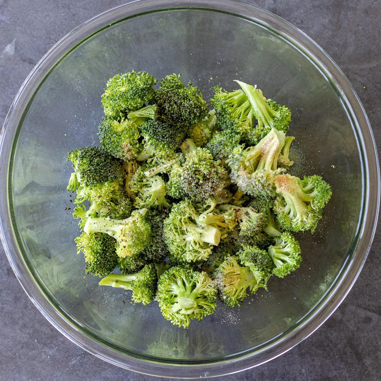 seasoned broccoli in a bowl