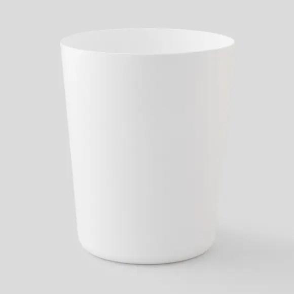 Poubelle De Salle De Bain Plastique Soft Touch Et Bois Couleur Unique Opportunity Monoprix Fr