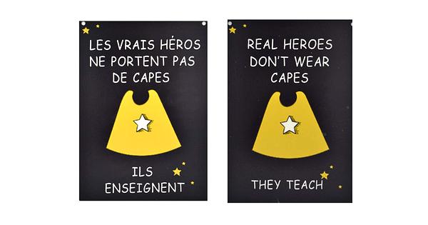 Affiche Les Hros Ne Portent Pas De Capes Ils Enseignent