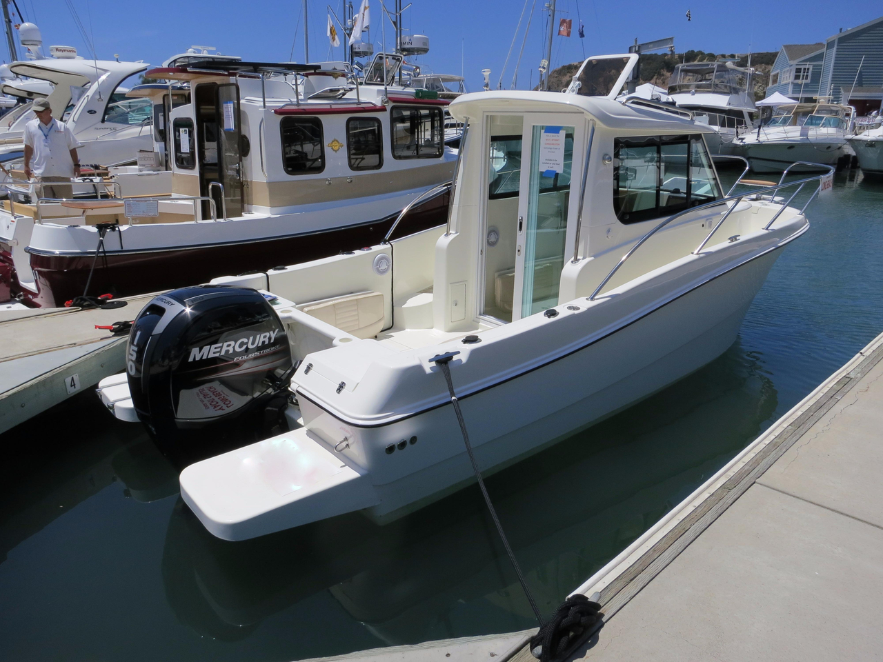 2016 Used Hydros Marine 23 Pilot House Walk Around Cruiser