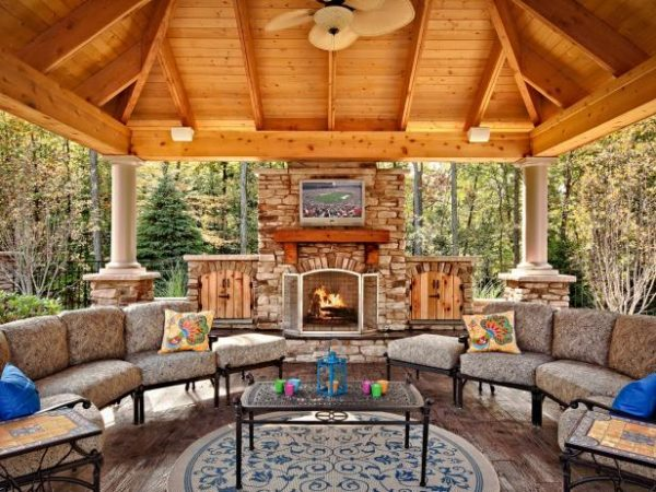 34 Fabulous Outdoor Fireplace Designs for Added Curb-Appeal on Outdoor Fireplaces Ideas  id=86794
