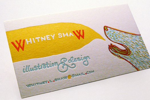 letterpress business cards: Whitney Shaw