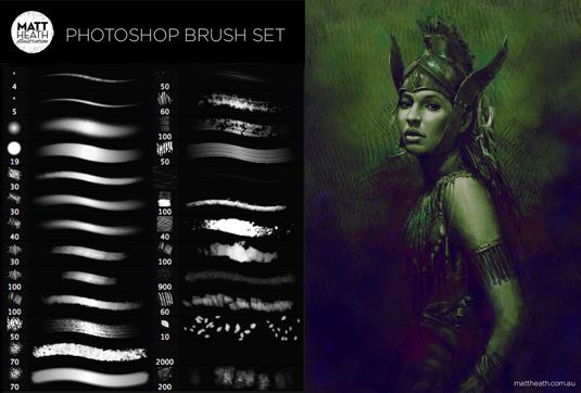 Free Photoshop brushes: Matt Heath