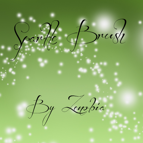free Photoshop brushes: glitter