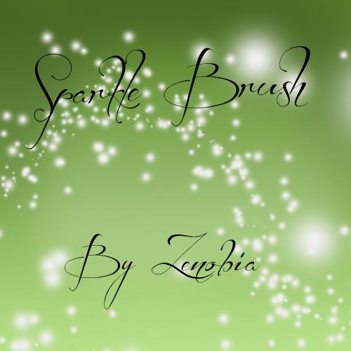 free Photoshop brushes: glitter