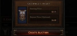 how much does diablo 3 gold sell for