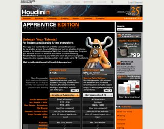 Houdini Apprentice - free graphic design software