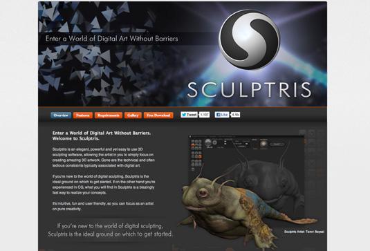Sculptris - free graphic design software