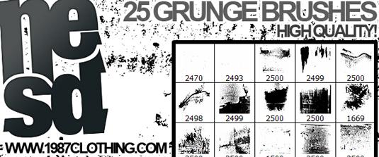 free Photoshop brushes: grunge