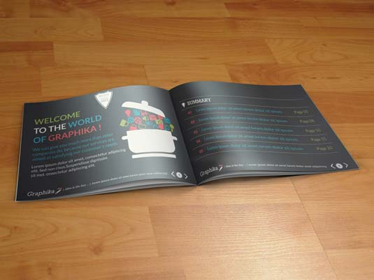 Best brochure templates: Graphika booklet