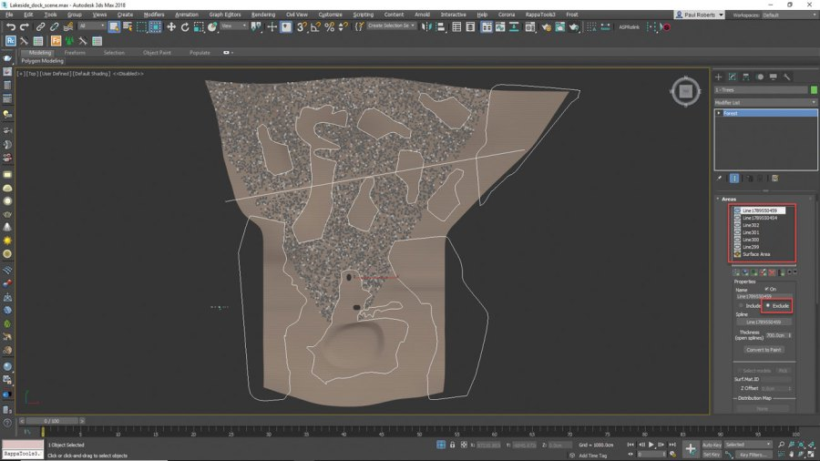 3ds Max - Remove some trees