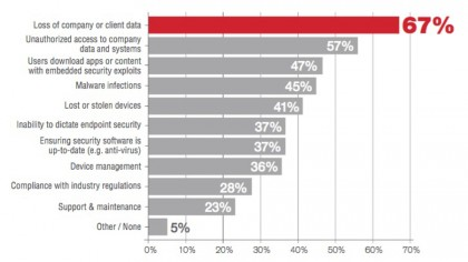 These are the biggest security concerns when it comes to BYOD