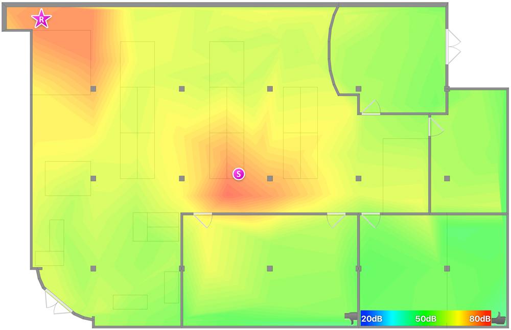 Netgear Orbi RBK50 review: Heat map