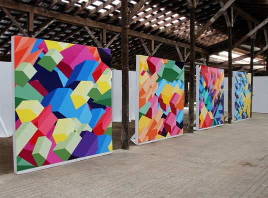 Geometric patterns paintings
