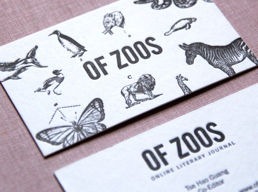 Letterpress business cards: Charmaine Yeo