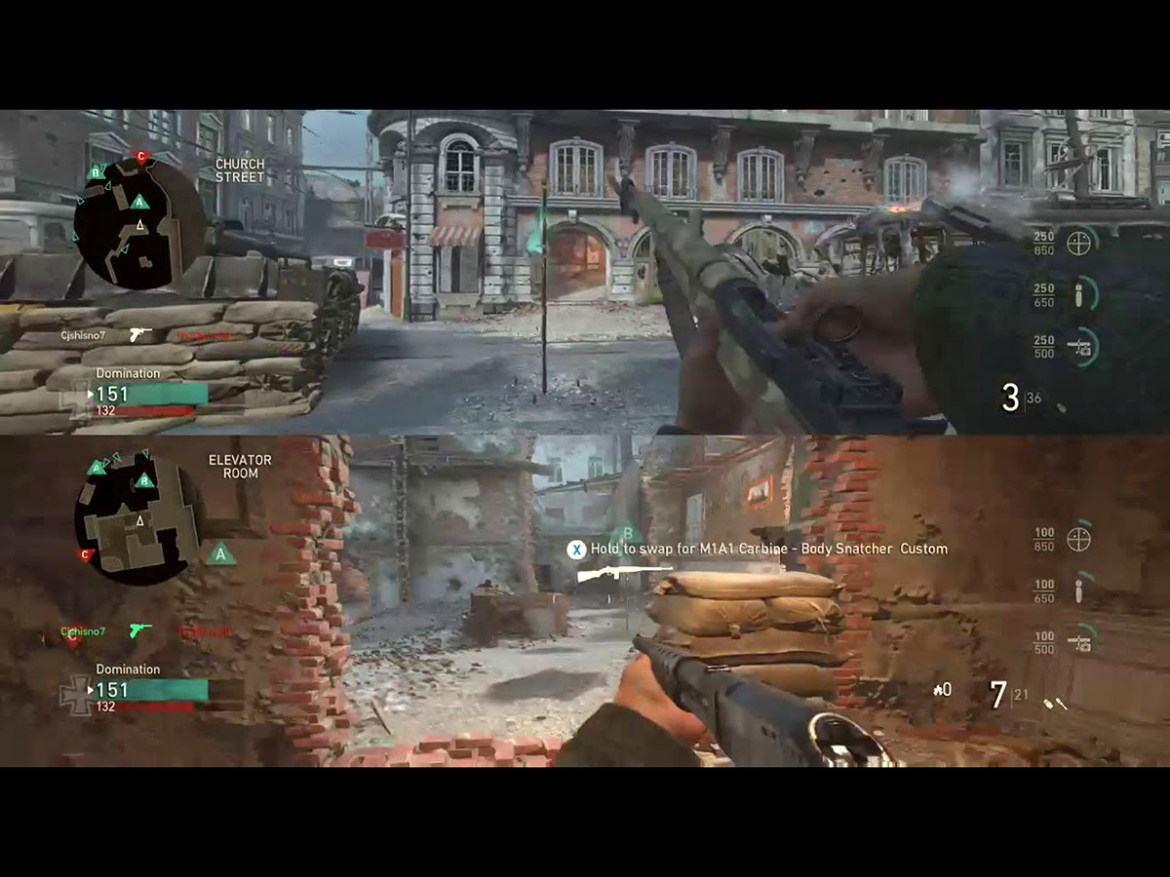 The best split screen PS4 games: call of duty wwii
