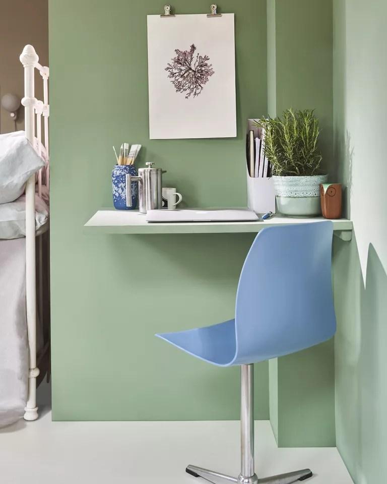 Farrow and Ball small bedroom office ideas
