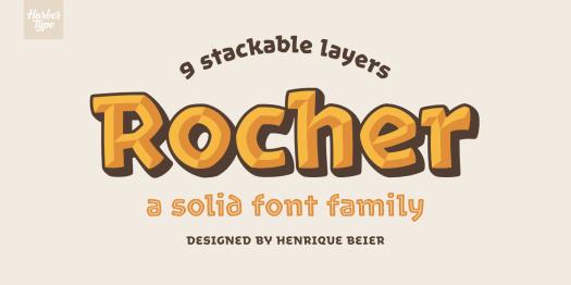 Fun fonts: Rocher