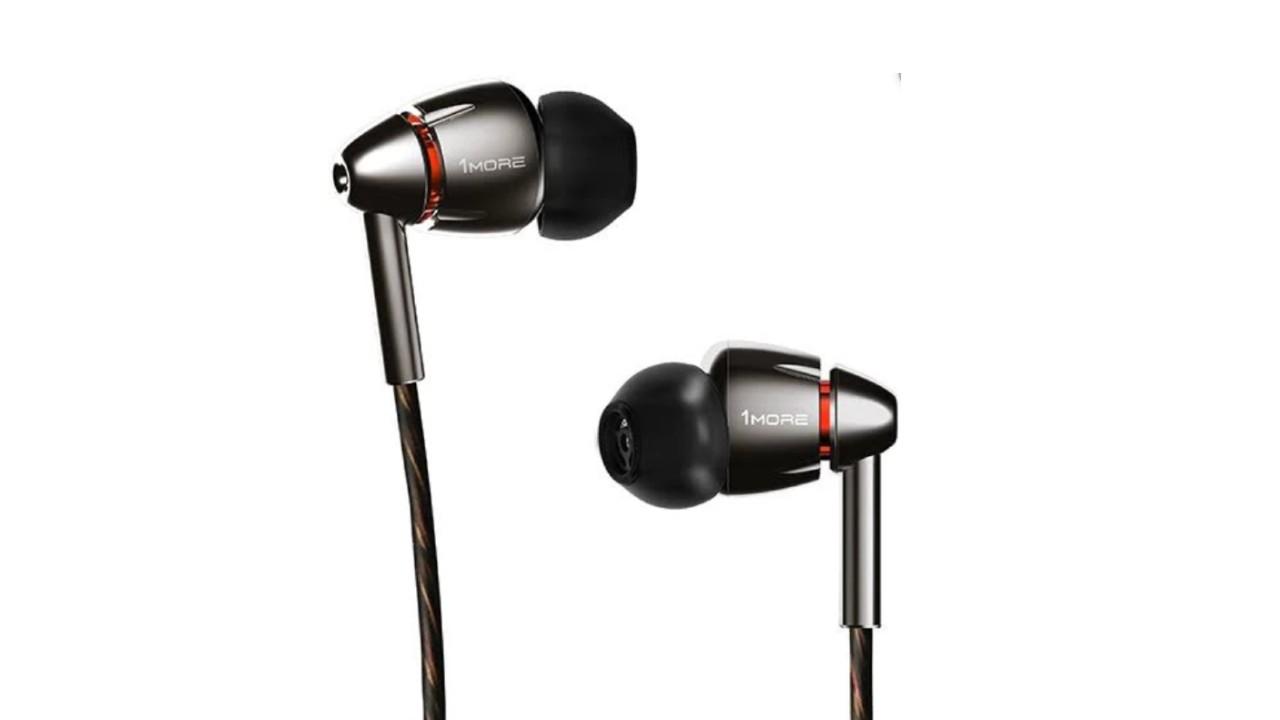 a closeup of the 1More Quad Driver In-Ear Headphones