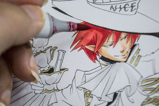 manga hair colouring