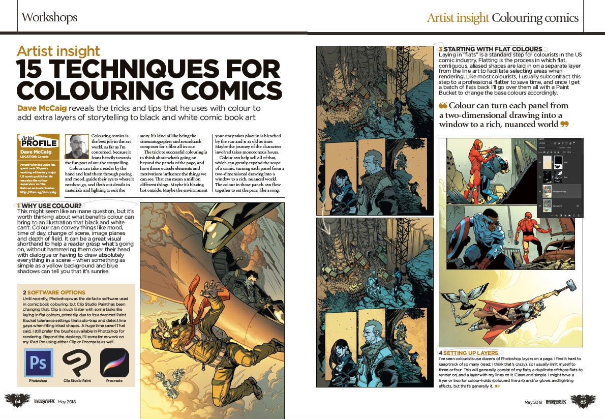 Create explosive comic art with ImagineFX issue 160 7
