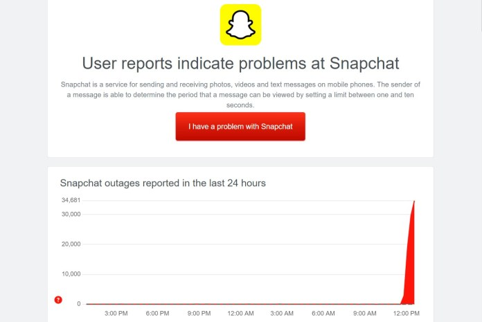 Snapchat is down