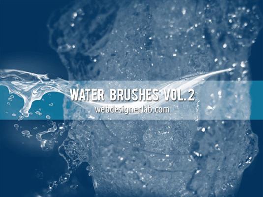 free Photoshop brushes: water