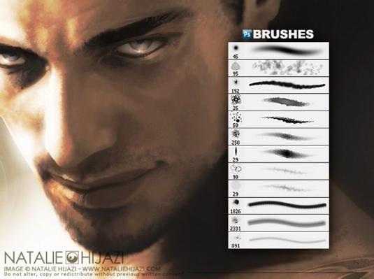 free Photoshop brushes: scars