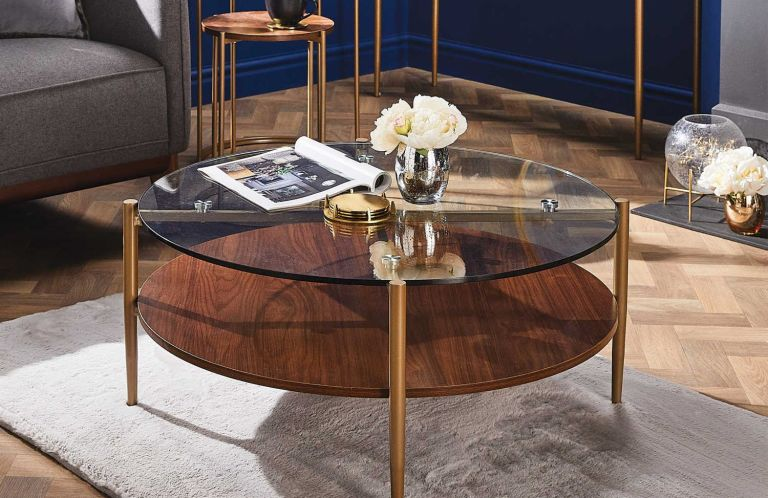 this aldi coffee table is art deco chic