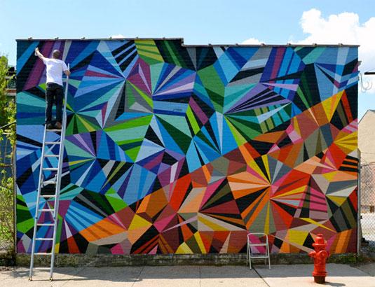 Geometric patterns: mural