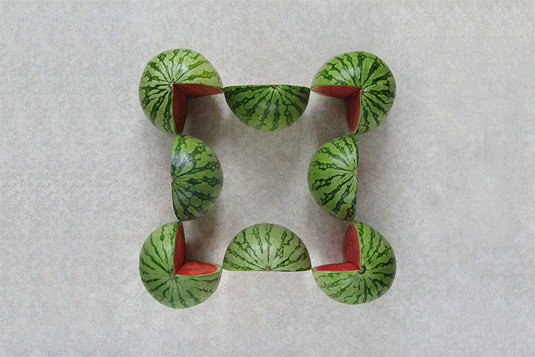 Geometric patterns: fruit
