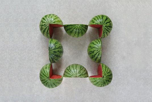 Geometric patterns: fruit