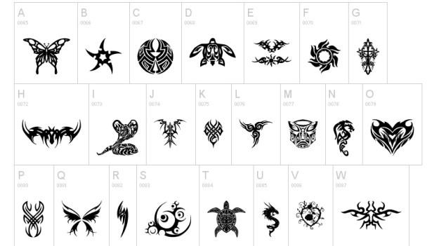 74948c61b62b4e7f4d4851855232fddd 51 free tattoo fonts for your body art Random