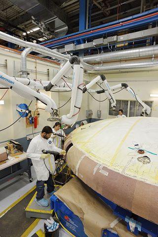 Photos: NASA's Orion Spacecraft Heat Shield on Display   Space